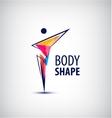 man logo human body l vector image