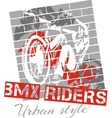 Mountain bike trial - design vector image