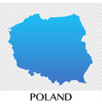 poland map in europe continent design vector image