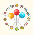 sweets and bakery candy concept vector image