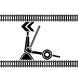 Switch arrows railway stencil vector image