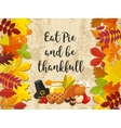 Happy Thanksgiving Day banner with vector image