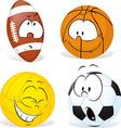 funny sport ball cartoon isolated - vector image