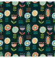 seamless pattern with lots of flowers vector image vector image