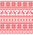 Traditional red nordic pattern vector image