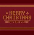 merry christmas retro card vector image