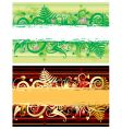 two floral banners vector image