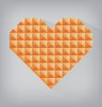 orange retro heart triangle abstract love vector image