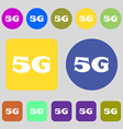 5G sign icon Mobile telecommunications technology vector image