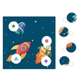 Educational game match the parts of picture vector image