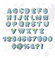 Abstract modern alphabet vector image