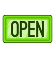 Nameplate open icon flat style vector image