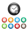 no time icons set simple vector image