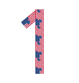 Number 1 made of USA flags on white background vector image