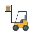 forklift vehicle delivery transport vector image