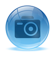 3D glass sphere photo icon vector image vector image