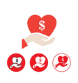 Cash Donation icon vector image
