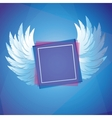 white wings with square frame vector image vector image