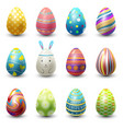 easter eggs painted with spring vector image