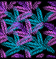 black blue and purple palm seamless pattern vector image