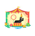 fur seal in a circus vector image vector image