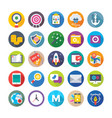web design and development icons 14 vector image
