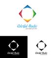 Colorful studio logo template vector image vector image