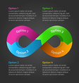 Infinity loop timeline infographic with text vector image