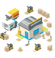 isometric warehouse vector image