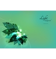 Abstract green eco background with leaves and vector image vector image