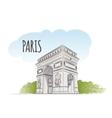 Arc Triomphe vector image