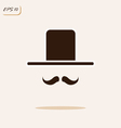 gentleman with a mustache and hat vector image