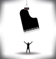 A man worships music vector image