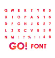 Alphabet Font in circles Type letters and numbers vector image