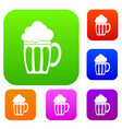beer set collection vector image