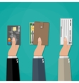 concept of payment options vector image