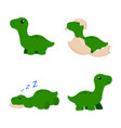 cute cartoon dinosaur vector image