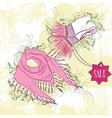 Decorative fashion of womens scarves vector image