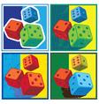 dice in retro style vector image