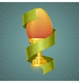 Egg Cup With Ribbon vector image