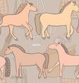 equestrianpatternhorses vector image