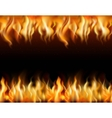Fire Tileable Borders Set vector image