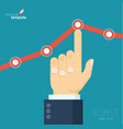 increasing business graph vector image
