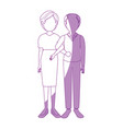 married couple old vector image