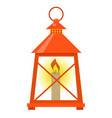 red lantern icon flat style isolated on white vector image
