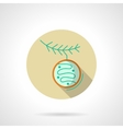 Round beige flat color Xmas bauble icon vector image