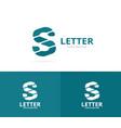 unique letter s logo design template vector image