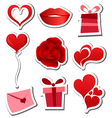 Valentines day sticker set vector image