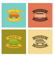 assembly flat icons back to school bus vector image