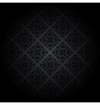 Black damask background vector image